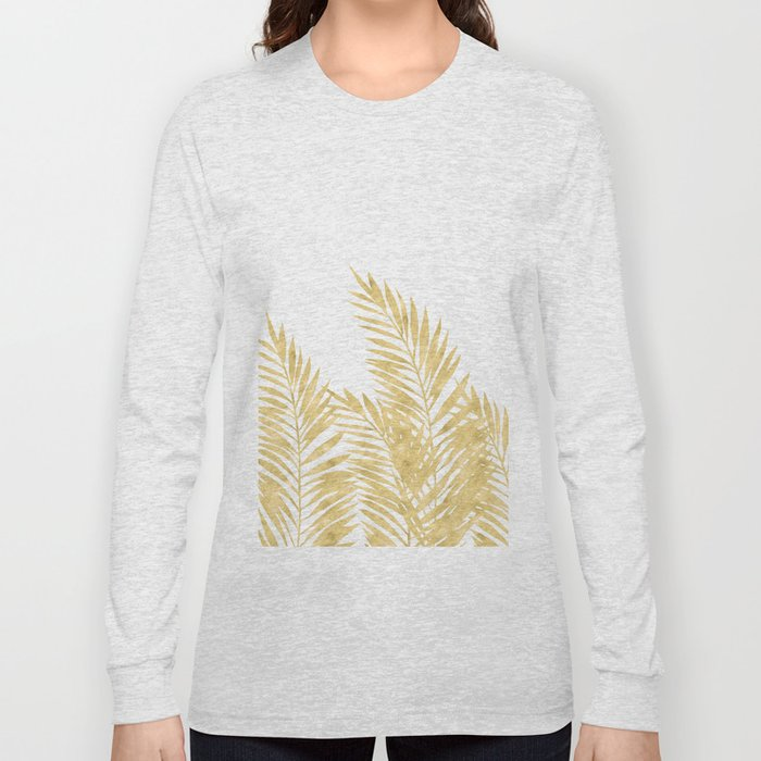 Palm Leaves Golden Long Sleeve T-shirt