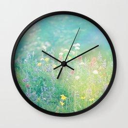 Mountain Wildflowers Wall Clock