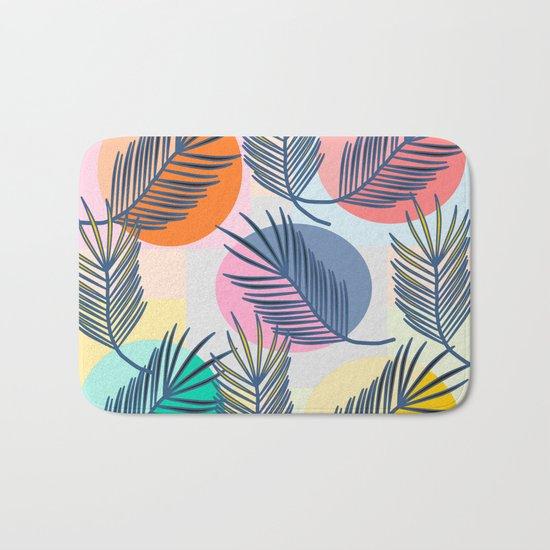 leaves palm Bath Mat