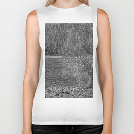 Forest Through The Trees - Black And White Biker Tank