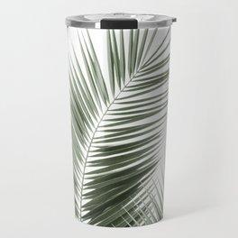 Olive Green Palm Leaves Dream - Cali Summer Vibes #1 #tropical #decor #art #society6 Travel Mug