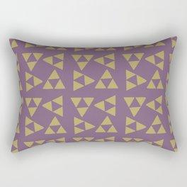 Print 132 - The Legend Of Zelda Triforce - Purple Rectangular Pillow