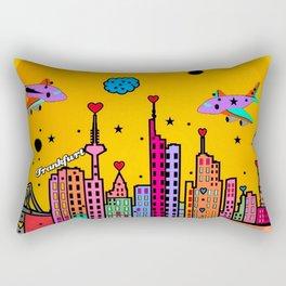 Frankfurt Popart by Nico Bielow Rectangular Pillow