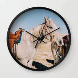 Desert Equestrian Wall Clock