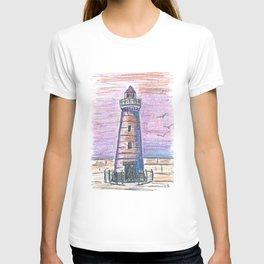 Lighthouse at sunset T-shirt