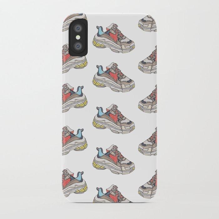 d028ccae43e1 Balenciaga Triple S Sneaker Pattern Illustration iPhone Case by ...