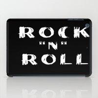 rock n roll iPad Cases featuring Rock N Roll by Brian Raggatt