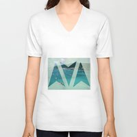 boats V-neck T-shirts featuring Boats by Ria*
