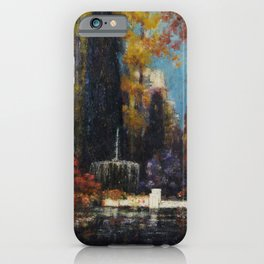 Garden with a Fountain by Thomas Mostyn iPhone Case