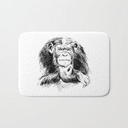 Drawing Chimpanzee Bath Mat