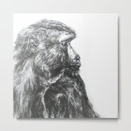 Ink Monkey Profile  Metal Print