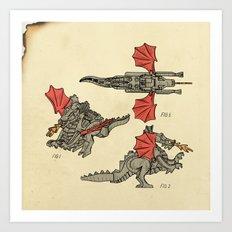 Lego Dragon Art Print