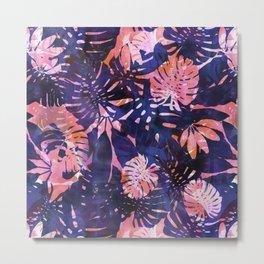 Motuu Tropical Pink & Purple Metal Print
