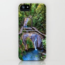 Valley of 33 waterfalls iPhone Case
