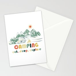 Camping. Eat. Sleep. Explore Stationery Cards