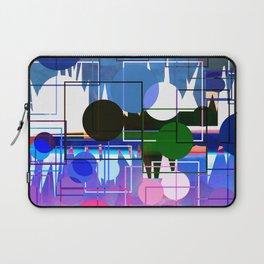 Multi- Blue Sticker Line Abstract Design Laptop Sleeve