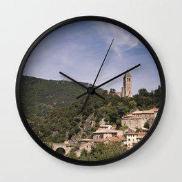 Olargues France Wall Clock