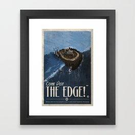 Grim Fandango Vintage Travel Poster - The Edge Framed Art Print