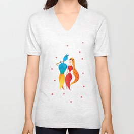 Radha Krishna Hindu god of Love Unisex V-Neck