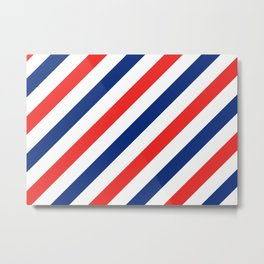 Barber Stripes Metal Print