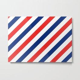 Barber Stripes Metal Print
