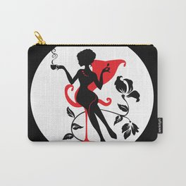 Woman with a cup of coffee or tea  Carry-All Pouch
