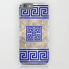 Greek Key Ornament - Lapis Lazuli and Gold #2 iPhone Case