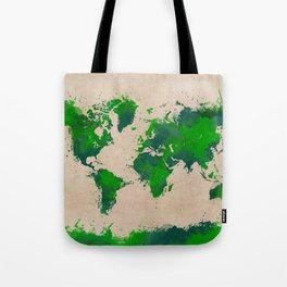 world map 43 green Tote Bag