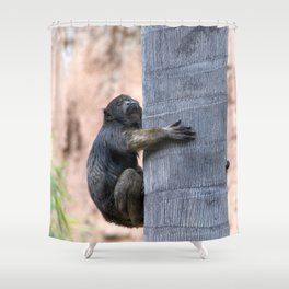 Howler Monkey Hang on tight Shower Curtain