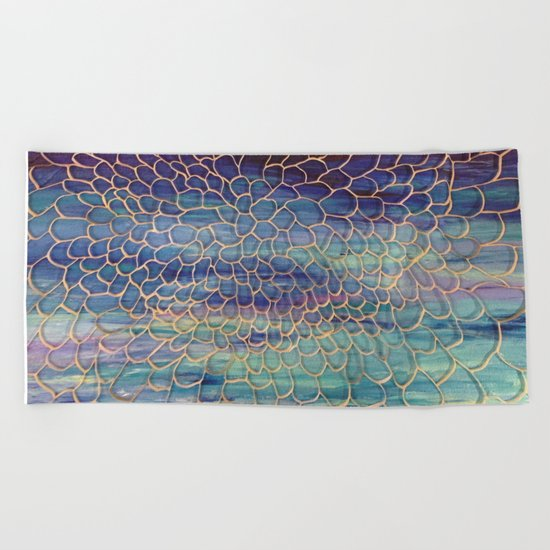 Looking through Lace Beach Towel