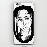 fka twigs iPhone & iPod Skins featuring Fka Twigs by Giorgia Ruggeri