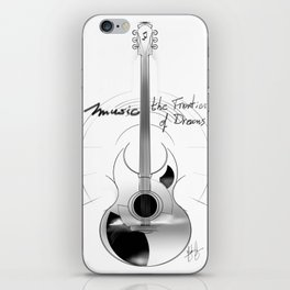 The acoustic guitar - Music, The Frontier of Dreams. iPhone Skin