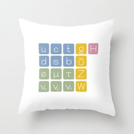 Elementary Particles Throw Pillow