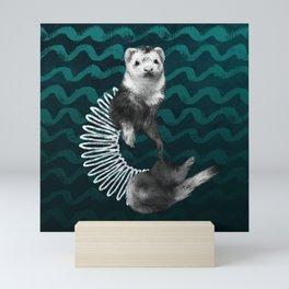 Ferret Slinky Mini Art Print