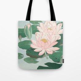 Water Lilies - Japanese vintage woodblock print Tote Bag