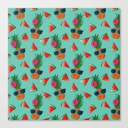 Lady Pineapple Canvas Print