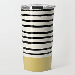Daffodil Yellow x Stripes Travel Mug