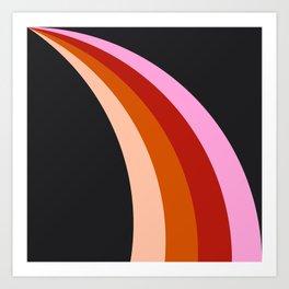 Retro Rainbow Stripes Art Print