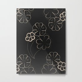 Light Sepia Flower Pattern #1 #drawing #decor #art #society6 Metal Print
