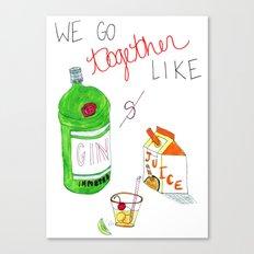 Gin & Juice Canvas Print