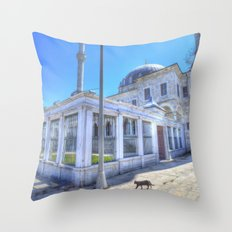 Istanbul Mosque Cat Throw Pillow
