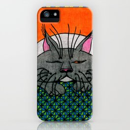 Cat Nap iPhone Case