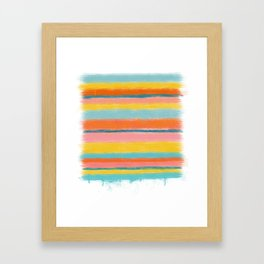 Stacked Colors Two Framed Art Print
