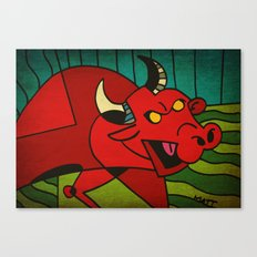 Bull....A Red one. Canvas Print