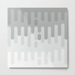 Gray Paint dripping background #society6 #decor #buyart #artprint Metal Print