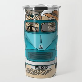 The  Best of British - English Bulldogs in a Morris Minor Travel Mug