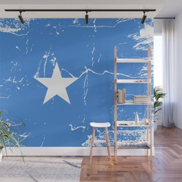 Somalia flag with grunge effect Wall Mural