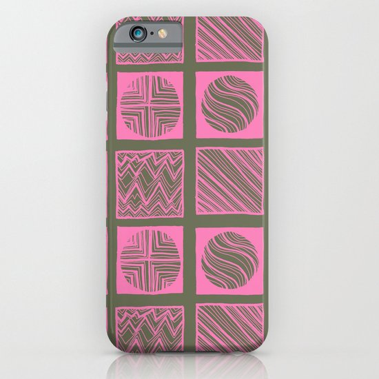 Green Squares iPhone & iPod Case