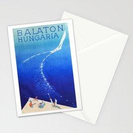 Budapest, Hungary, Balaton, vintage poster Stationery Cards