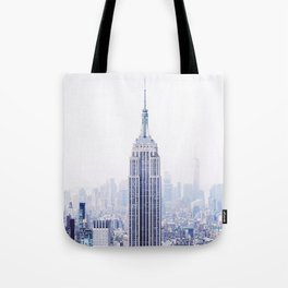 New York City - Manhattan Cityscape - Empire State Building Photograph Tote Bag
